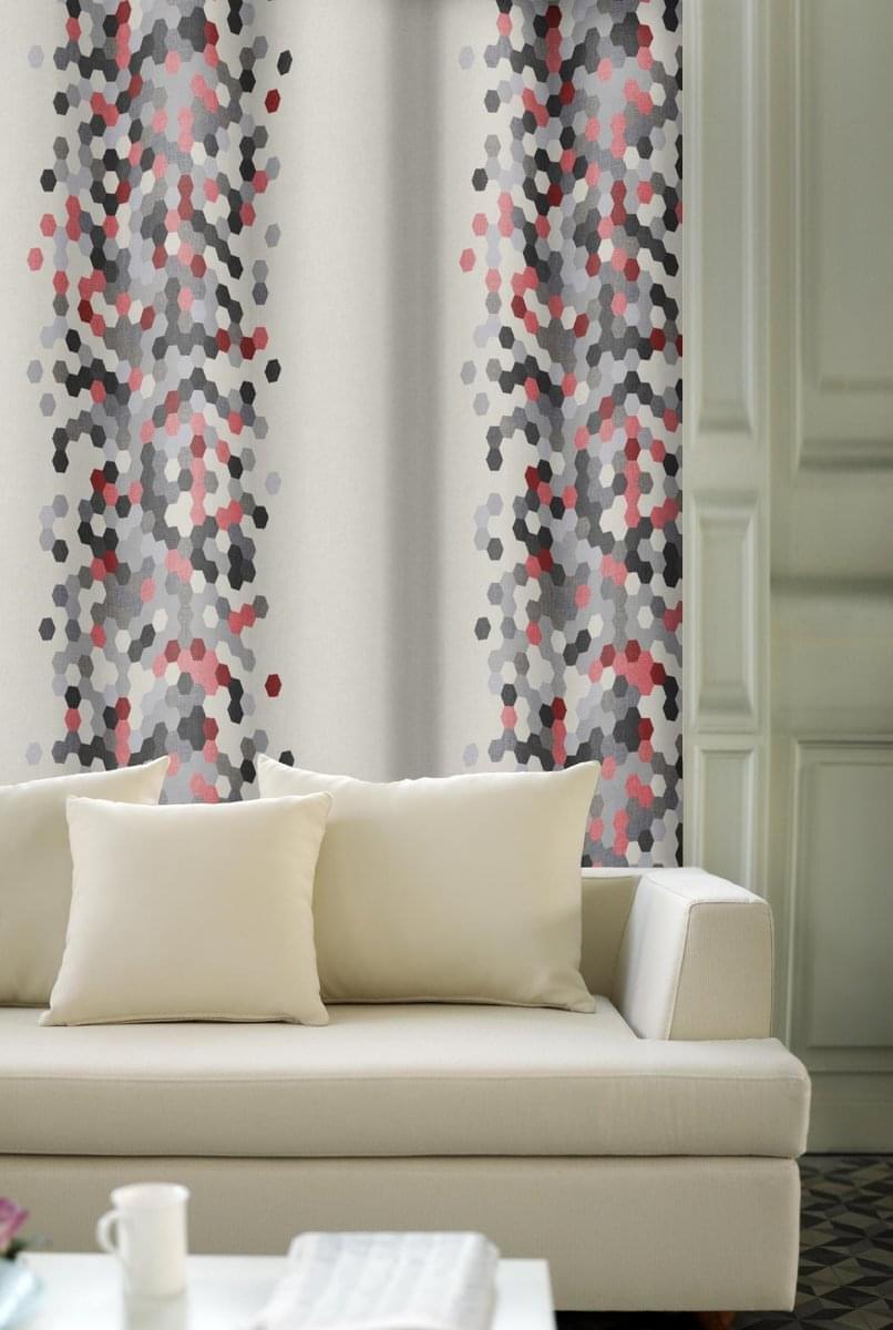 Forbyt, Závěs dekorační nebo látka, OXY Mozaik, šedobordový, 150 cm