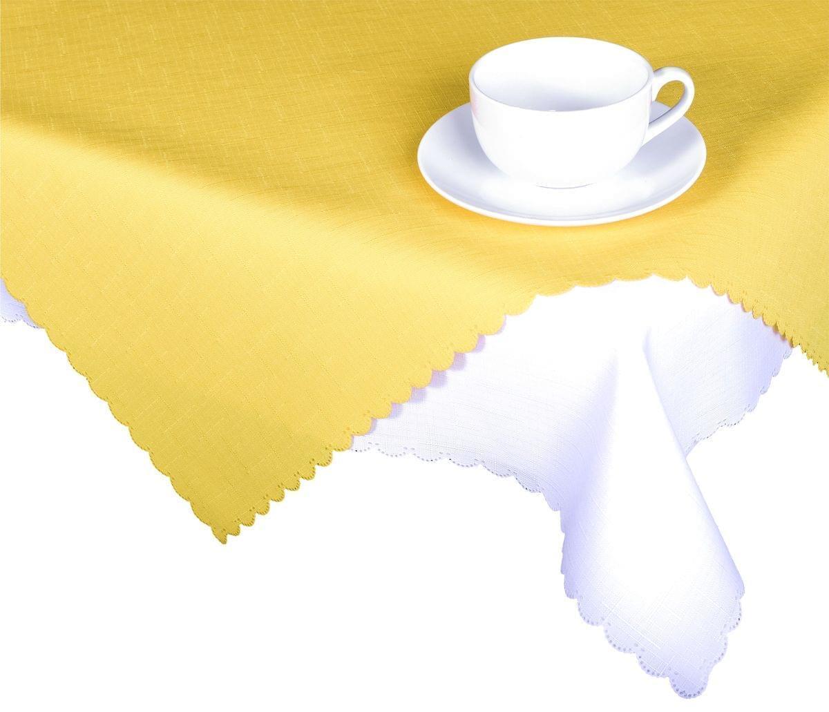 Forbyt, Ubrus s nešpinivou úpravou, Jednobarevný Deštík, žlutý 160 x 220 cm