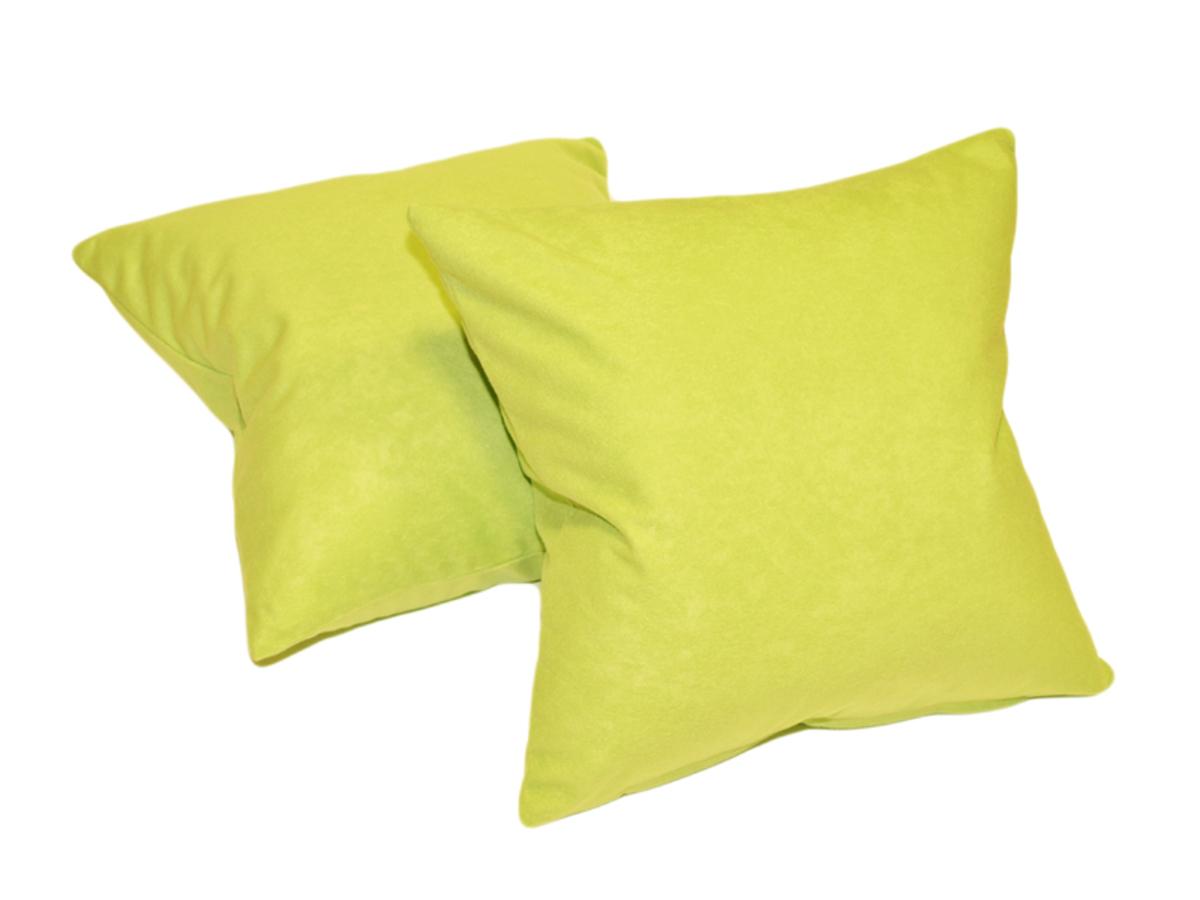 Forbyt Návlek na polštář, Suedine, sada 2 ks, zelená 40 x 40 cm