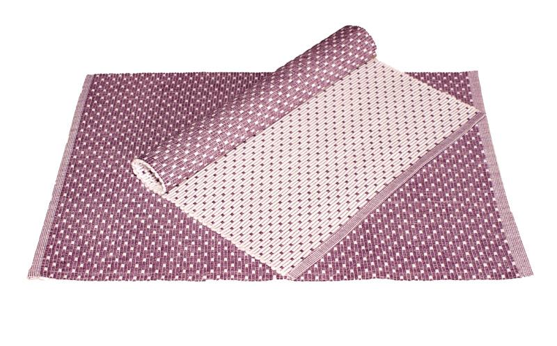 Forbyt , Prostírání bavlněné Tečky, Fialová, 2 - 33 x 45 cm, 40 x 120 cm 40 x 120 cm