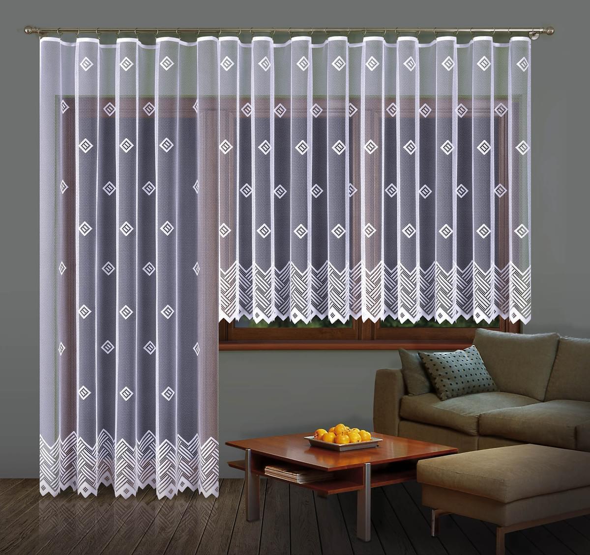 Forbyt, Hotová záclona a Balkonový komplet Barbora 350 x 160 cm + 200 x 250 cm