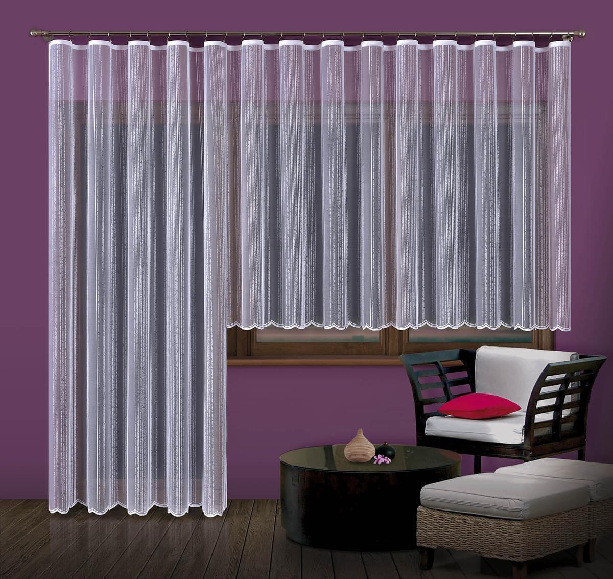 Forbyt, Hotová záclona nebo Balkonový komplet, ALBA 350 x 160 cm