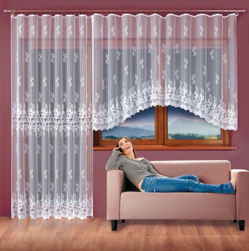 Forbyt Hotová záclona nebo Balkonový komplet Marcela 370 x 180 cm + 200 x 250 cm