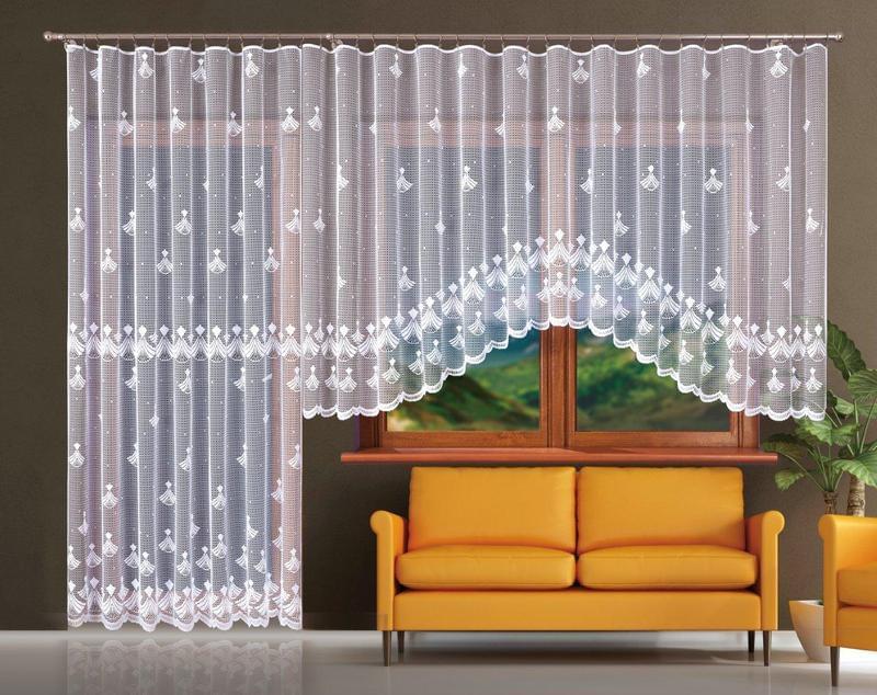 Forbyt Hotová záclona nebo balkonový komplet, Lucie 400 x 160 + 200 x 250 cm