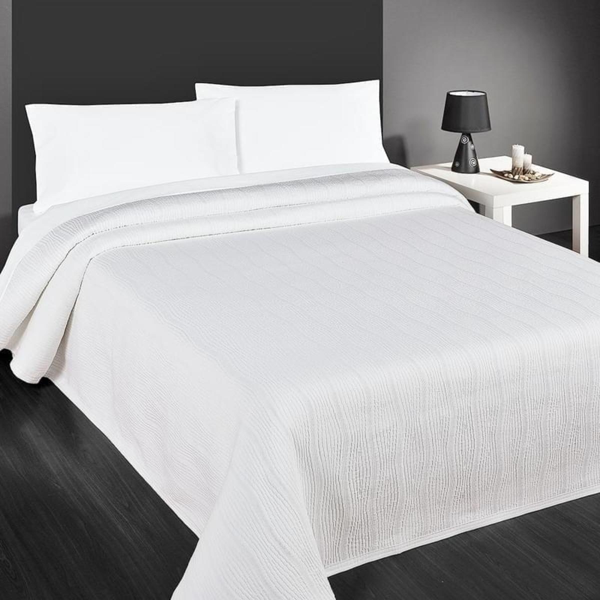 Forbyt Přehoz na postel, Capri, bílá 140 x 220 cm