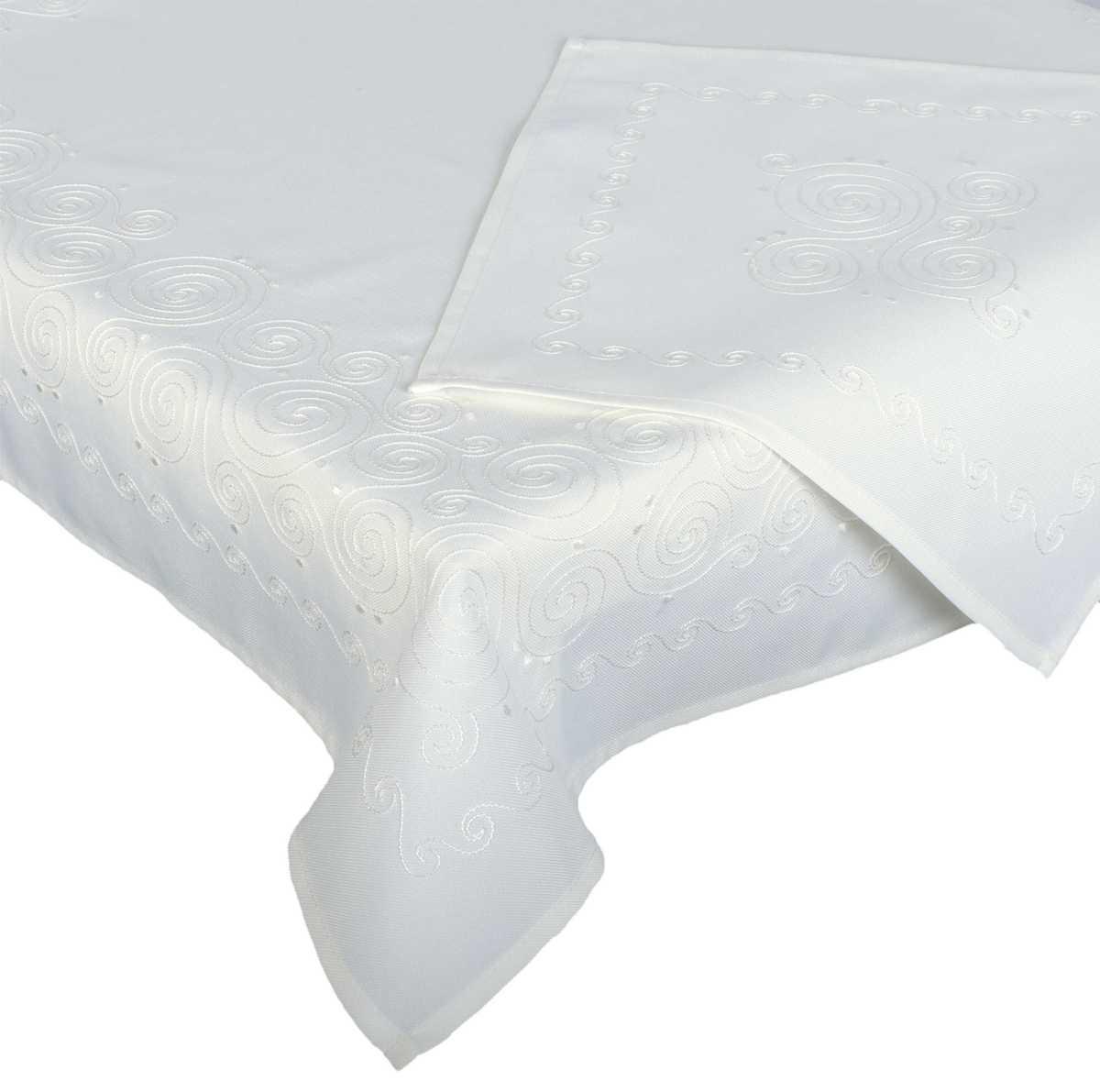 Forbyt, Ubrus celoroční, Spirála, bílý 85 x 85 cm