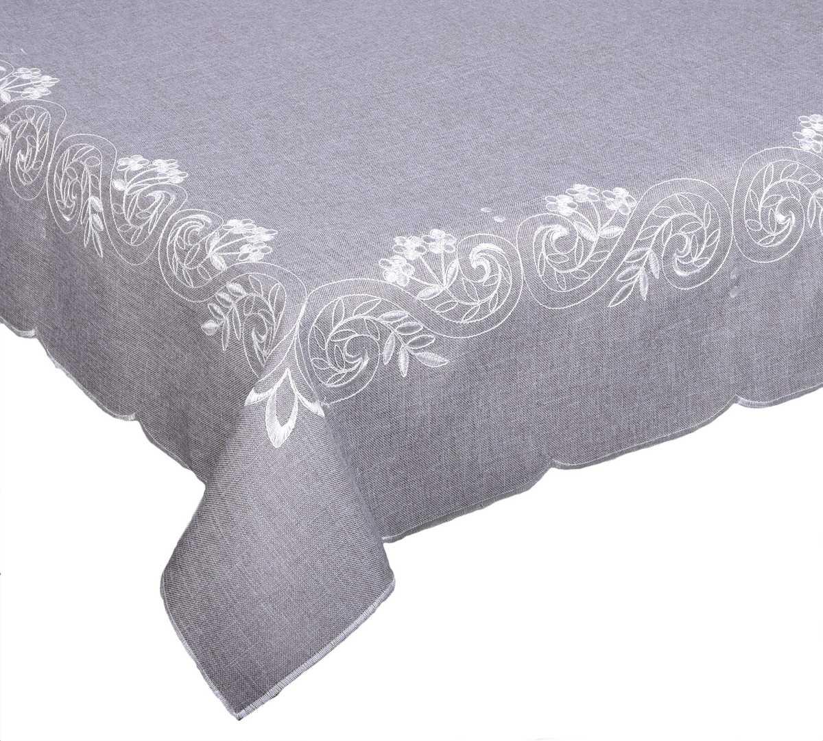 Forbyt, Ubrus celoroční, Anastastázie, šedý 35 x 160 cm