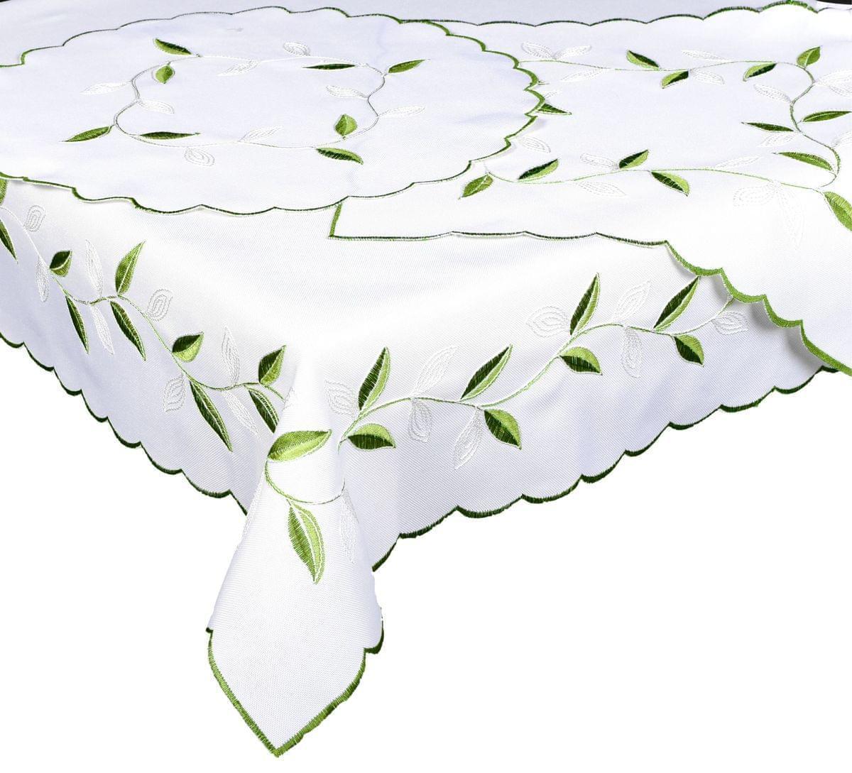 Forbyt, Ubrus celoroční, Zelené listí 40 x 90 cm
