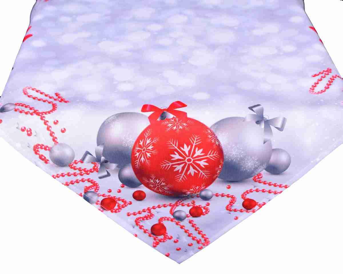 Forbyt, Ubrus vánoční, Vánoční ozdoby 120 x 140cm