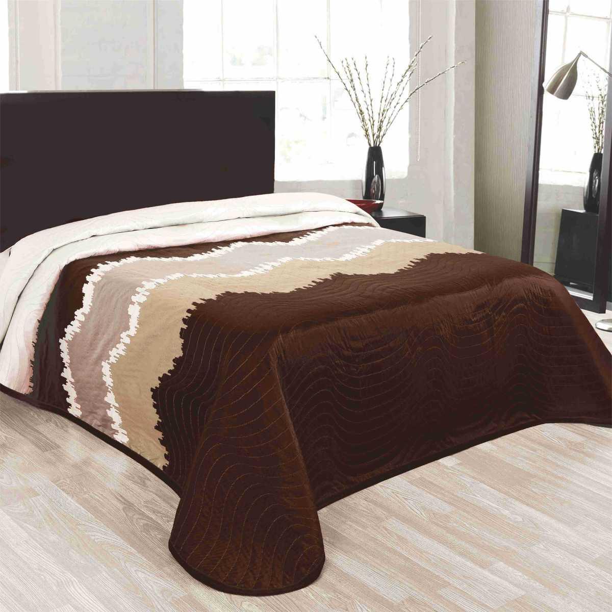 Forbyt, Přehoz na postel, Celine, hnědý 240 x 260 cm