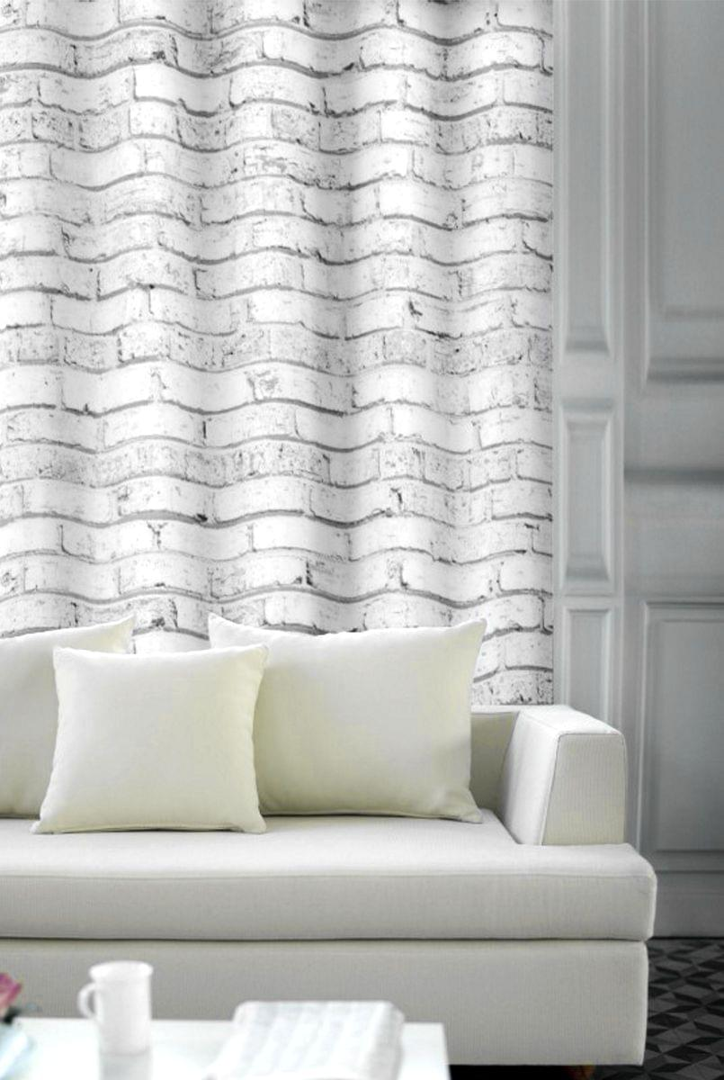 Forbyt, Závěs dekorační, OXY Cihla, bíločerná, 150 cm