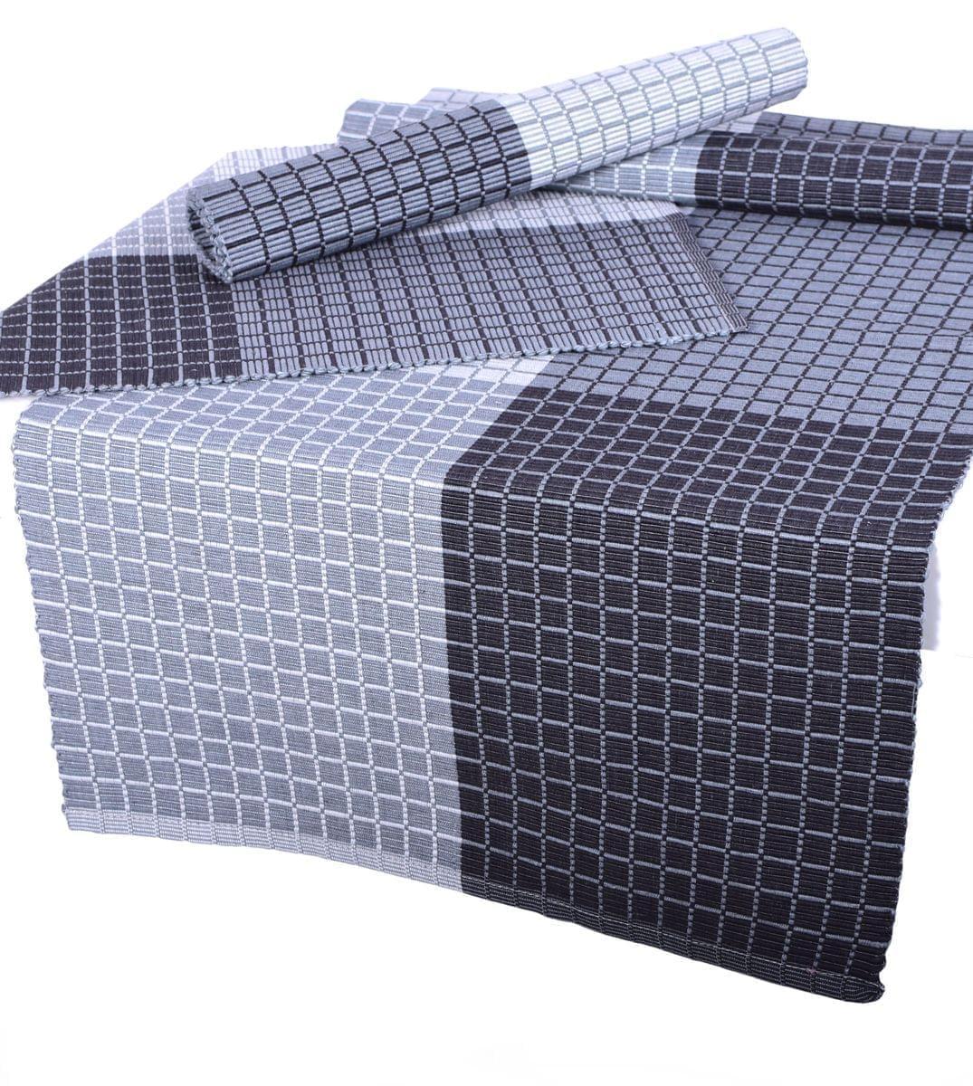 Forbyt, Prostírání bavlněné, Cubes, šedý 40 x 120 cm