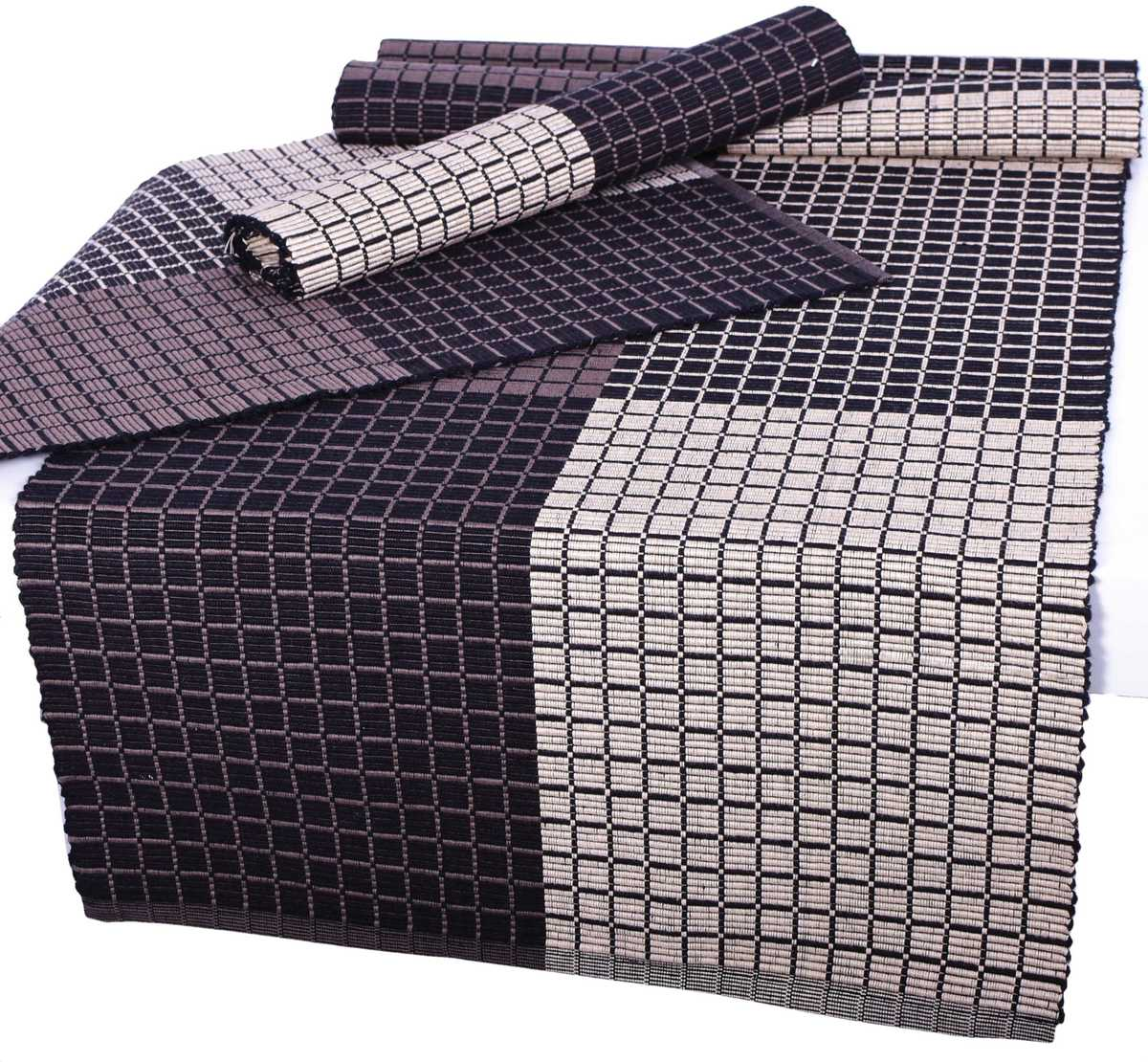 Forbyt, Prostírání bavlněné, Cubes, hnědý 40 x 120 cm