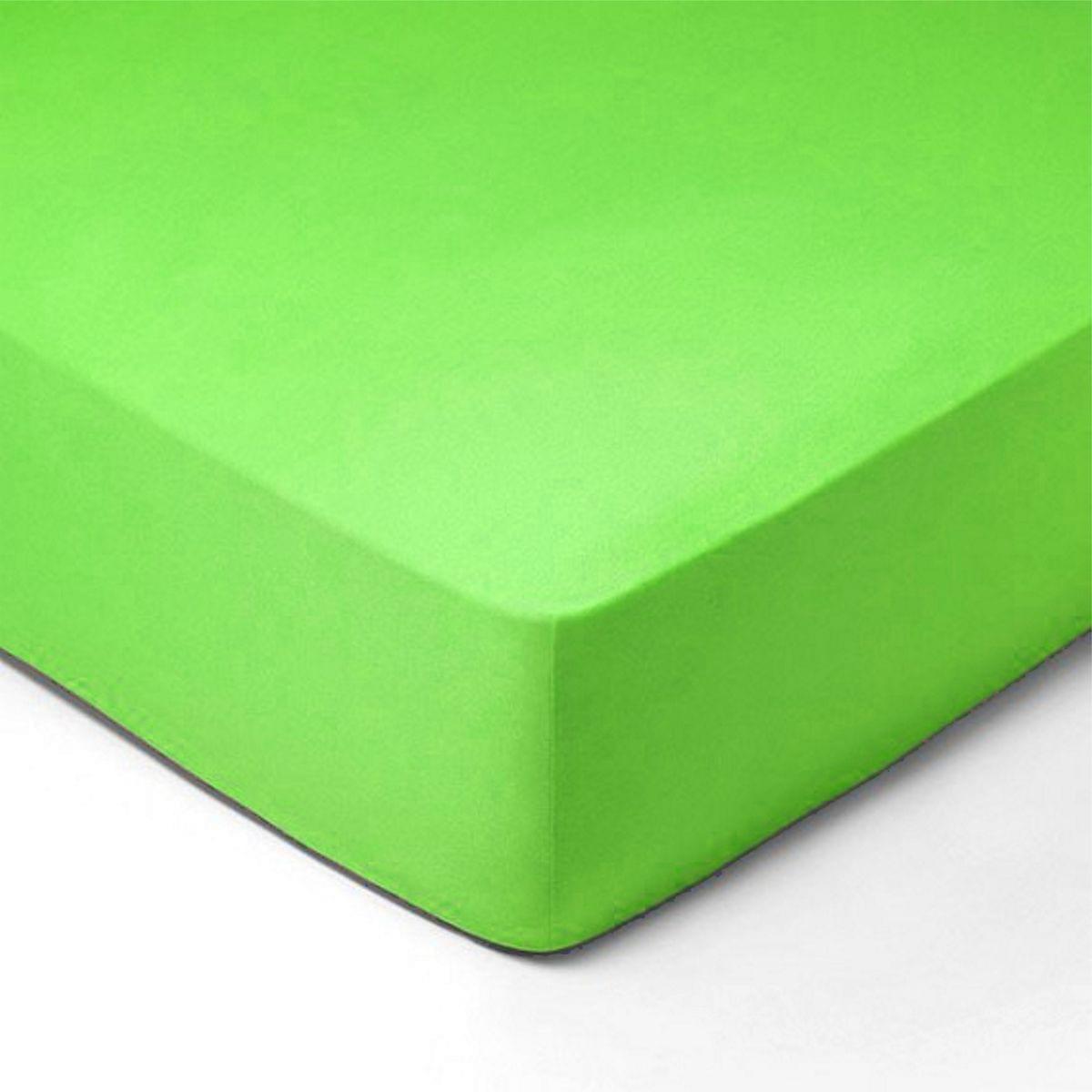 Forbyt, Prostěradlo, Jersey, zelená 160 x 200 cm