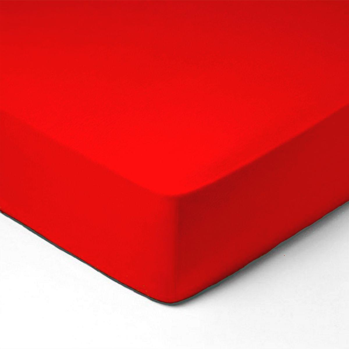 Forbyt, Prostěradlo, Jersey, červená 90 x 220
