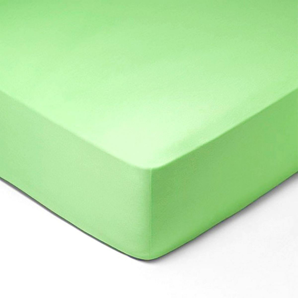 Forbyt, Prostěradlo, Jersey, světle zelená 140 x 200 cm