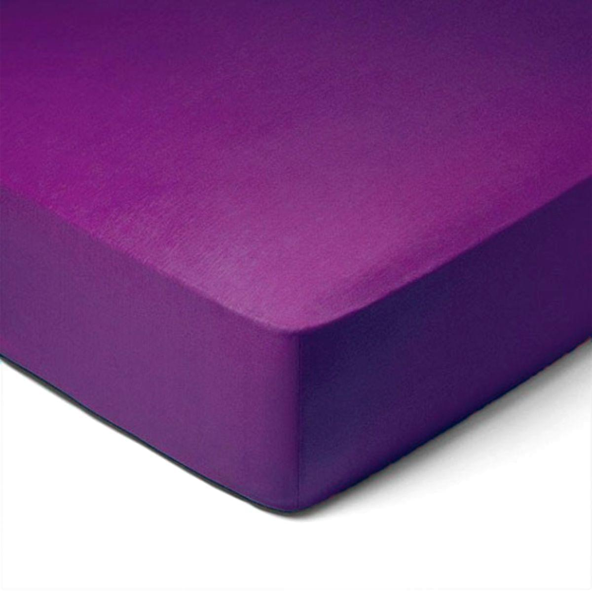 Forbyt, Prostěradlo, Jersey, tmavě fialová 180 x 200 cm