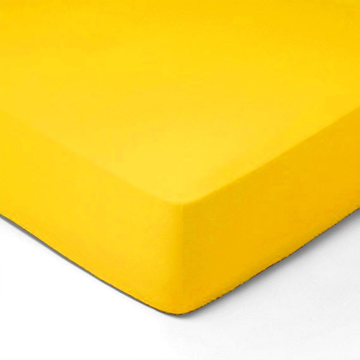 Forbyt, Prostěradlo, Jersey, žlutá 180 x 200 cm
