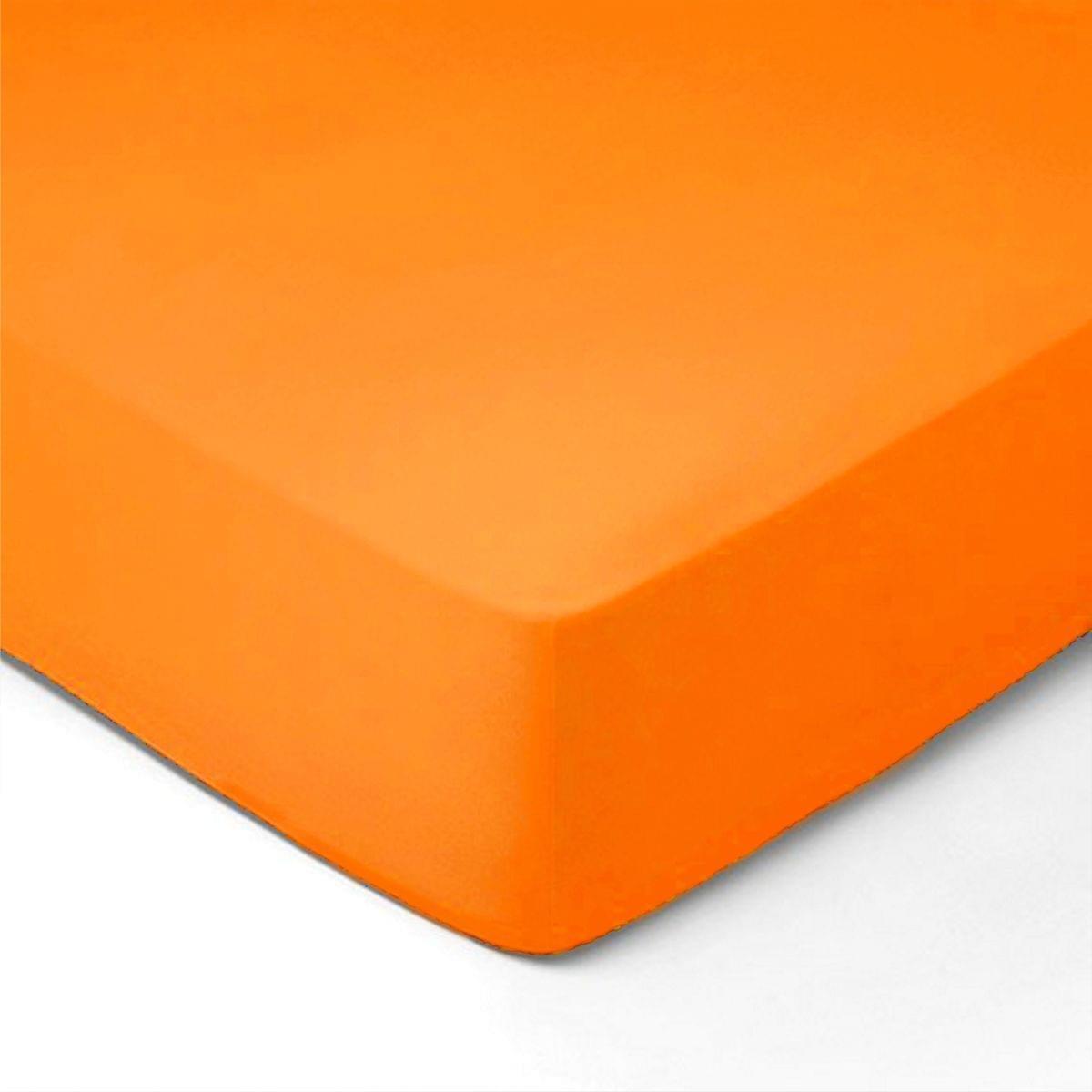Forbyt, Prostěradlo, Jersey, oranžová 100 x 200 cm