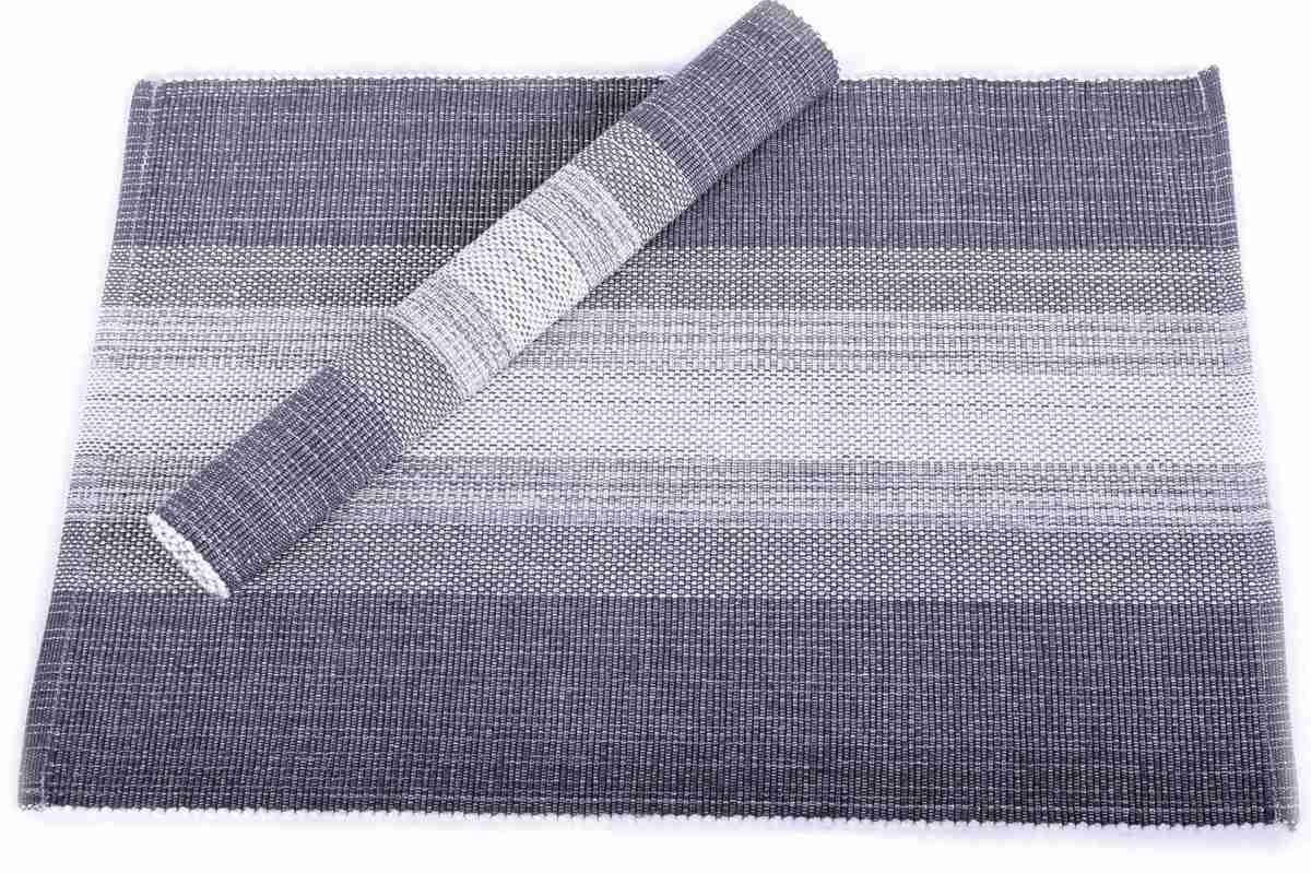 Forbyt, Prostírání bavlněné, Elegantní pruhy lesklé, šedé 40 x 120 cm