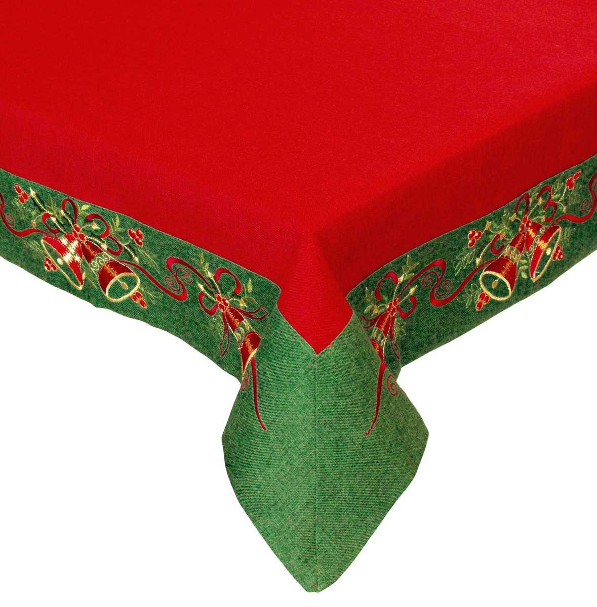 Forbyt, Vánoční ubrus, Královské Vánoce, červený 140 x 180 cm