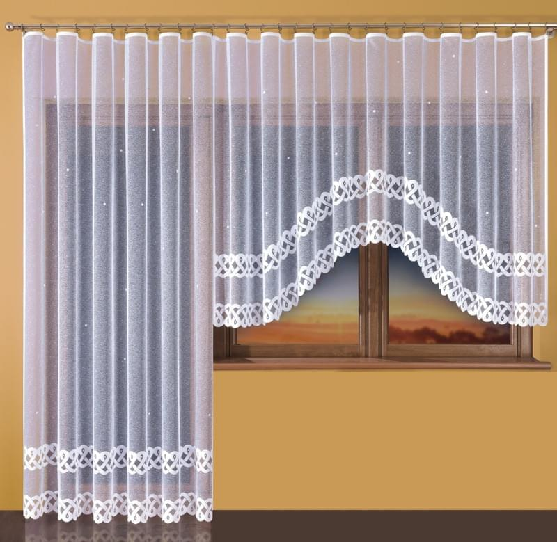 Hotová záclona nebo Balkonový komplet - Ema 250 x 130 cm 300 x 150 cm