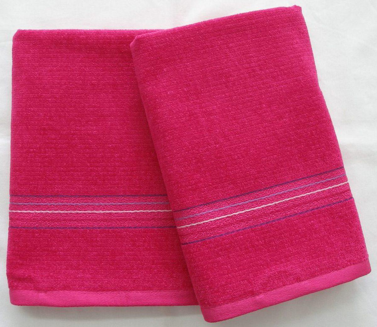 FORBYT, Ručník nebo osuška, EVA, růžovo-fialová 70 x 140 cm