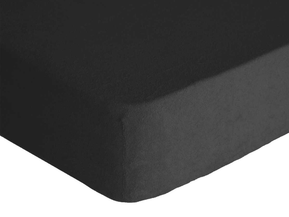 Forbyt, Prostěradlo, Froté Premium, černá 90 x 200 cm