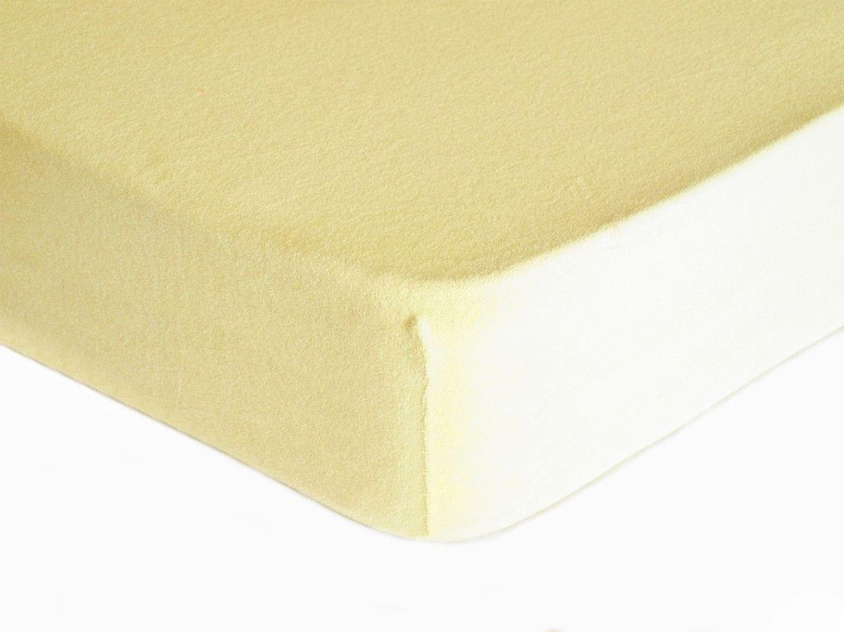 Forbyt, Prostěradlo, Froté Premium, krémové 180 x 200 cm