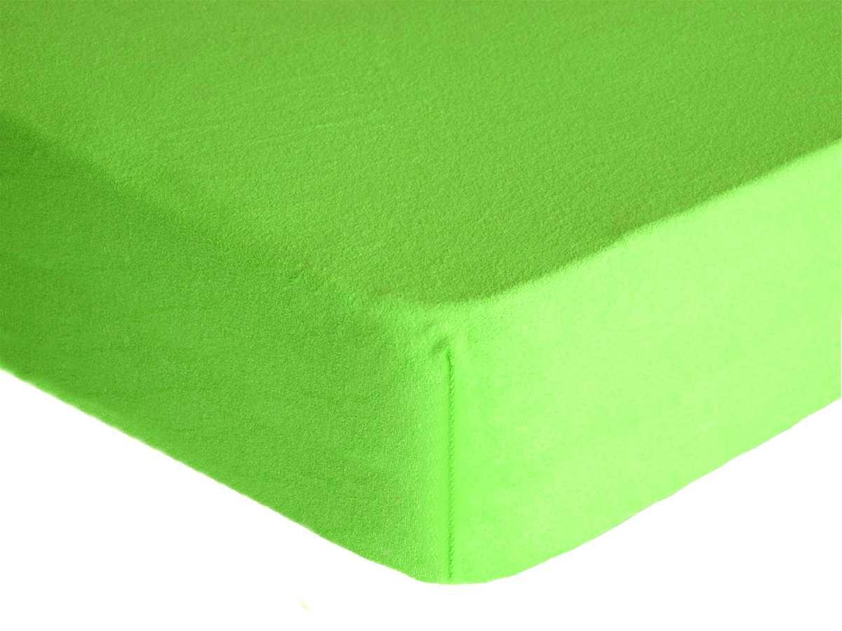 Forbyt, Prostěradlo, Froté Premium, zelené 90 x 200 cm