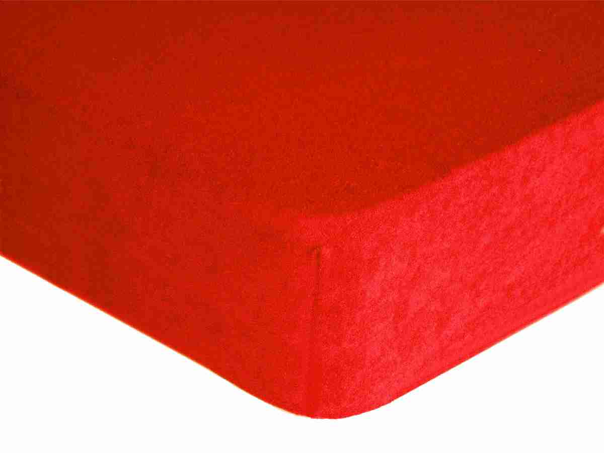 Forbyt, Prostěradlo, Froté Premium, červené 120 x 200 cm