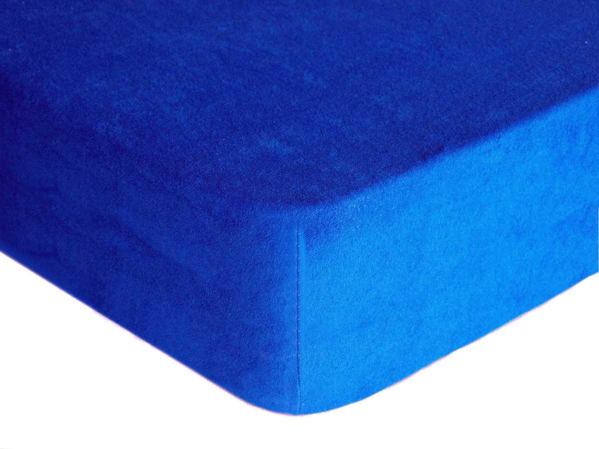 Forbyt, Prostěradlo, Froté Premium, tmavě modrá 90 x 200 cm
