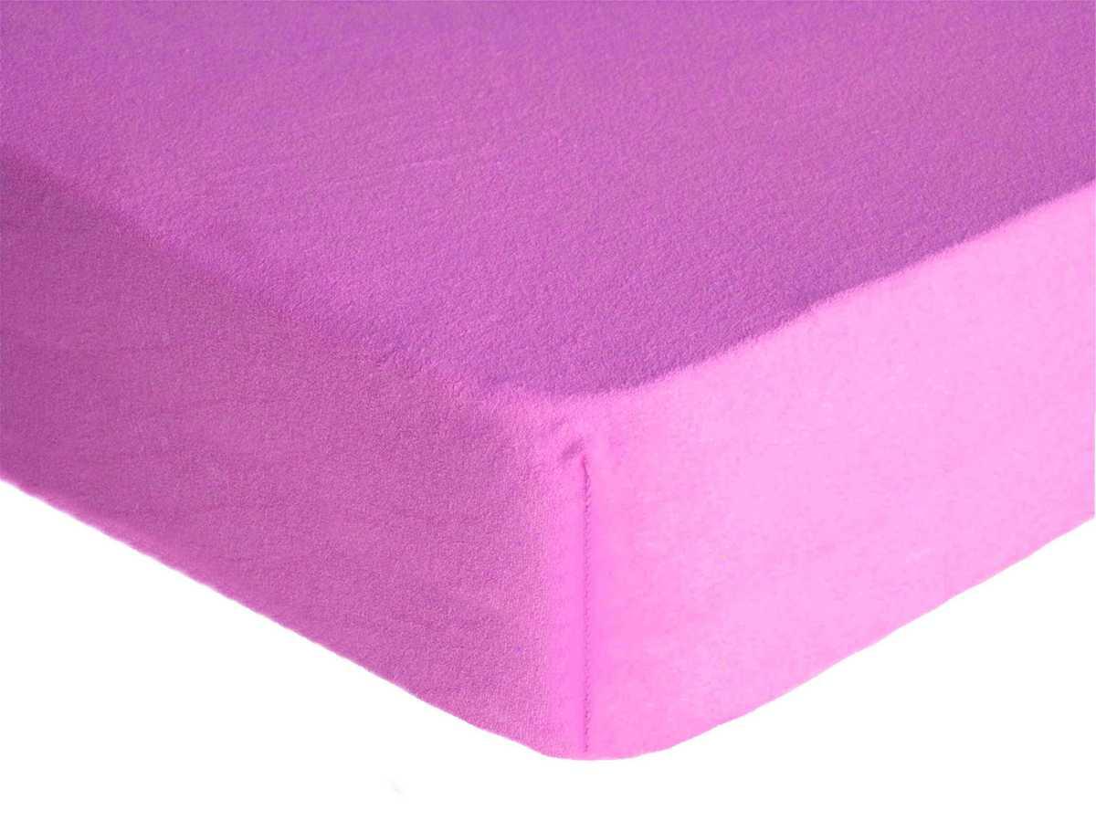 Forbyt, Prostěradlo, Froté Premium, fialové 90 x 200 cm