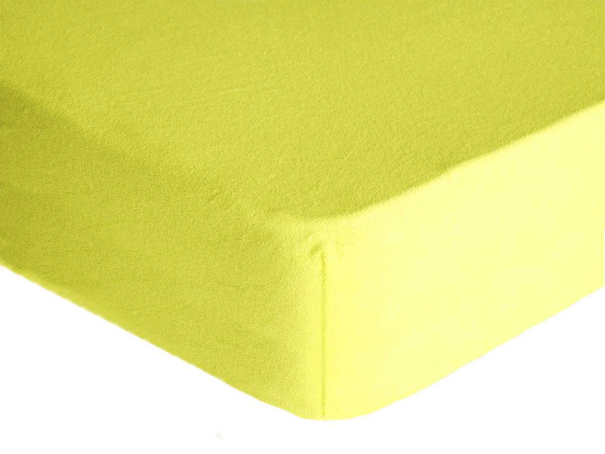 Forbyt, Prostěradlo, Froté Premium, světle žluté 120 x 200 cm