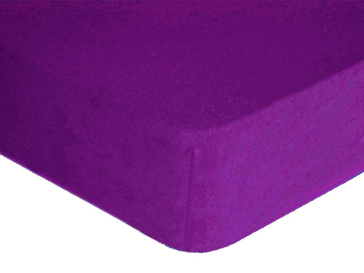 Forbyt, Prostěradlo, Froté Premium, tmavěfialové 90 x 200 cm
