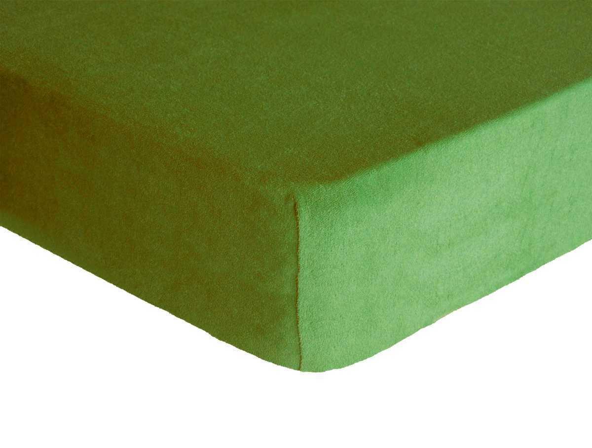 Forbyt, Prostěradlo, Froté Premium, olivová 140 x 200 cm