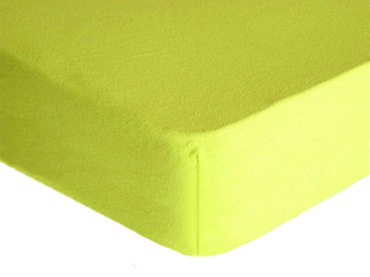 Forbyt, Prostěradlo, Froté Premium, citrónové 140 x 200 cm
