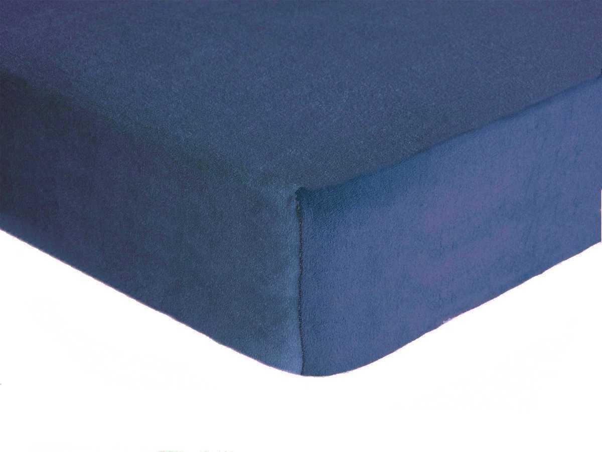 Forbyt, Prostěradlo, Froté Premium, ryflově modrá 140 x 200 cm