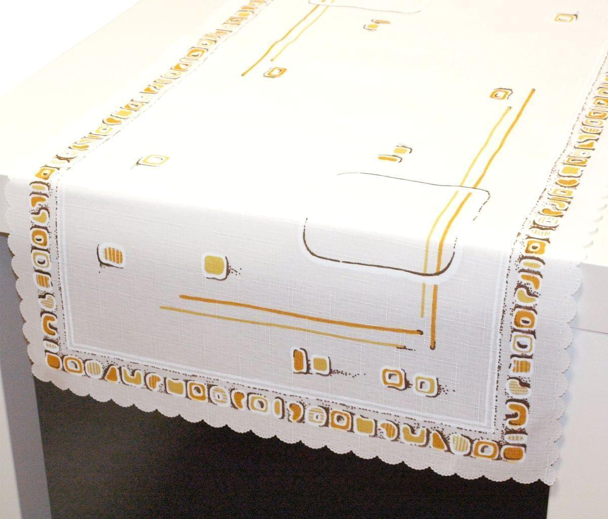 Forbyt, Ubrus s nešpinivou úpravou, Geometrie, béžový, obdélník 120 x 140cm