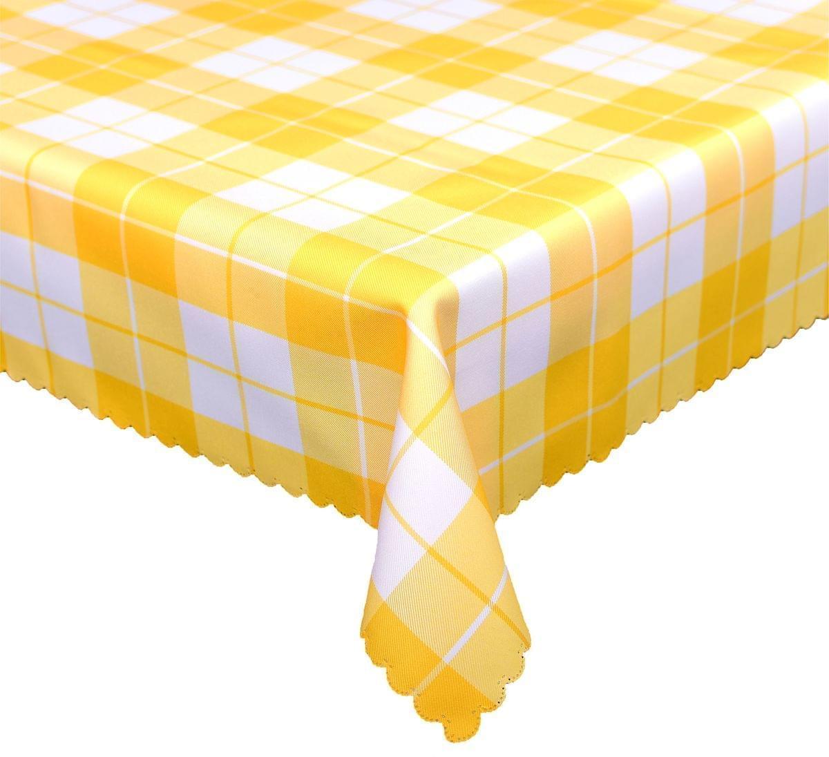 Forbyt, Ubrus s nešpínivou úpravou, Káro, žluté 120 x 120 cm