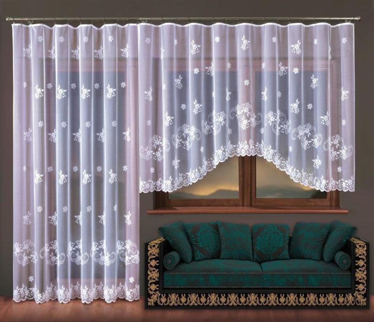 Forbyt Balkonový komplet nebo hotová záclona Květuše 300 x 150 cm + 200 x 250 cm