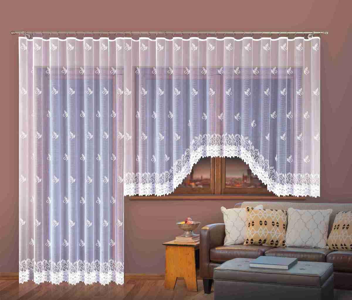 Forbyt, Hotová záclona nebo balkonový komplet, Liliana, bílá 200 x 250 cm