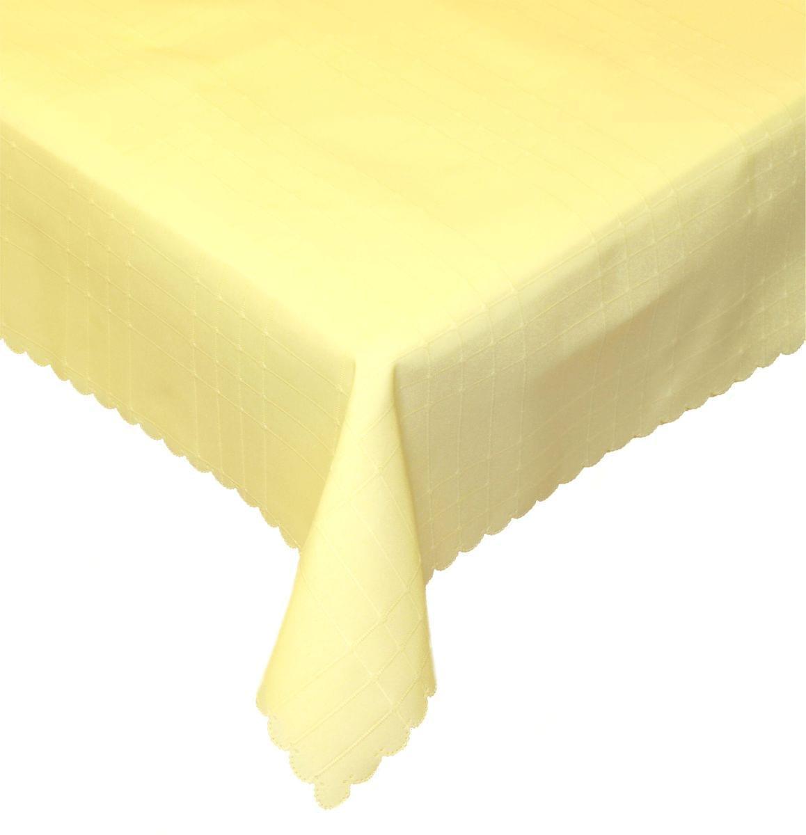 Forbyt, Ubrus s nešpinivou úpravou, Mřížka 2 sv.žlutý 100 x 140 cm