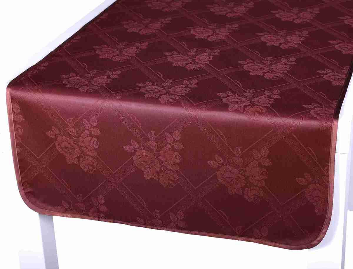 Forbyt, Ubrus s nešpínivou úpravou, Protiskluzový Růže, tmavěhnědý 160 x 220 cm