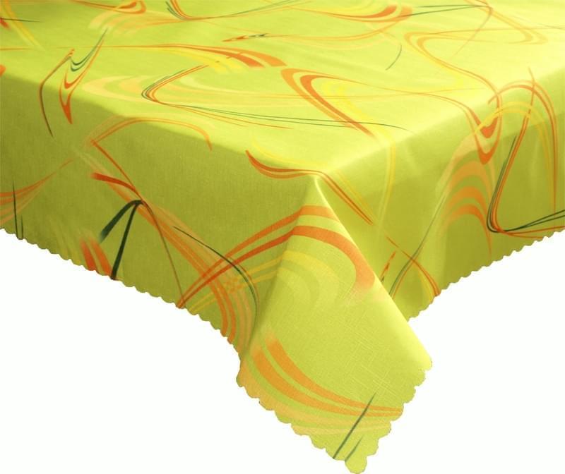 Forbyt Ubrus Dekorativní nešpinivý dezén Numero, zelený 120 x 140cm