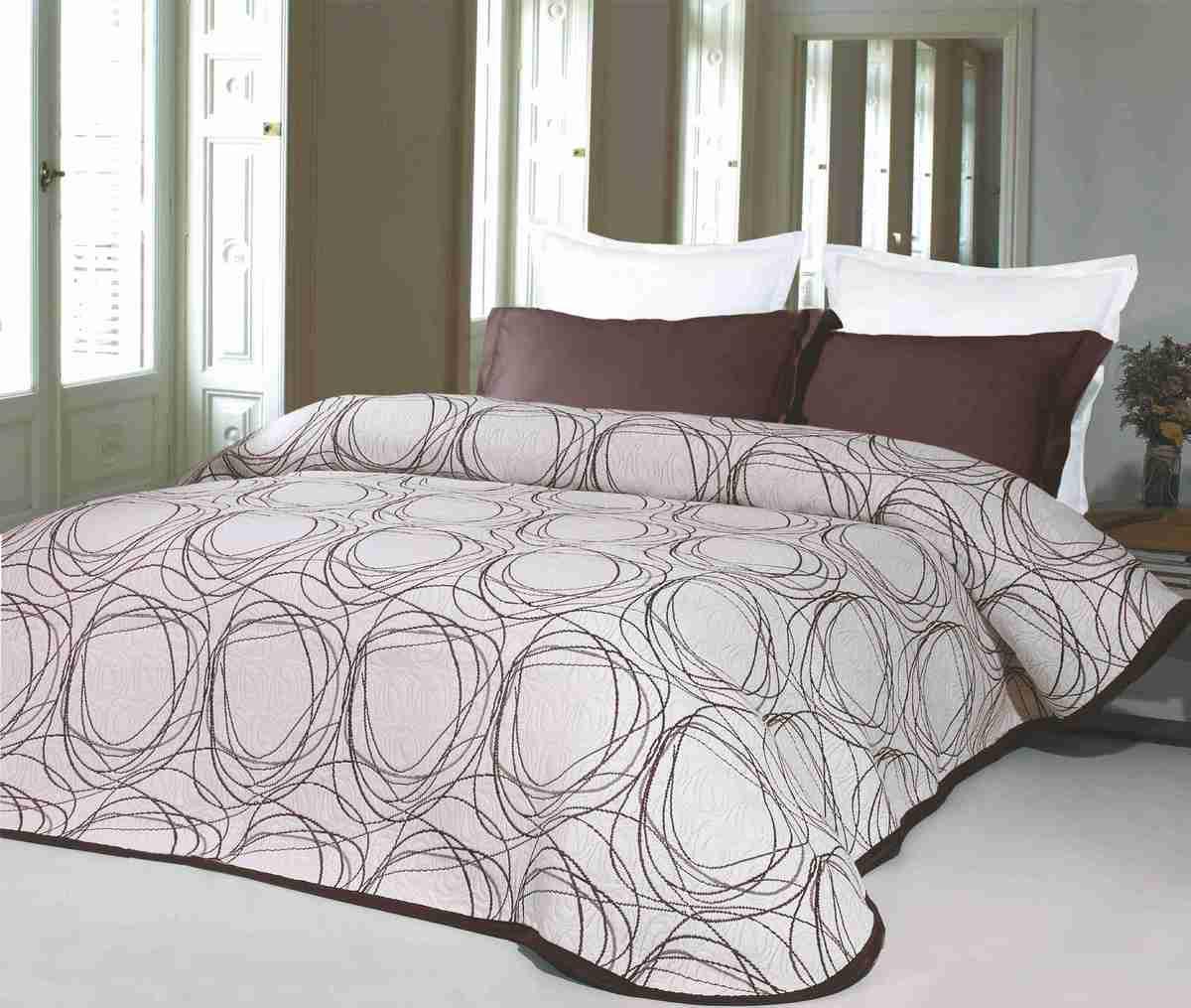 Forbyt, Přehoz na postel, Omega, hnědá 240 x 260 cm