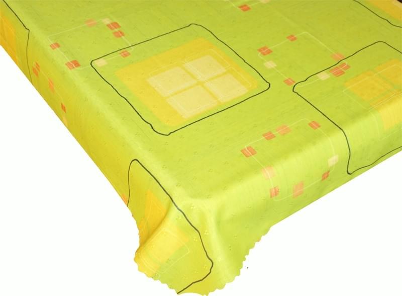 Forbyt Ubrus s nešpinivou úpravou, Geometrie, zelený pr.155 cm