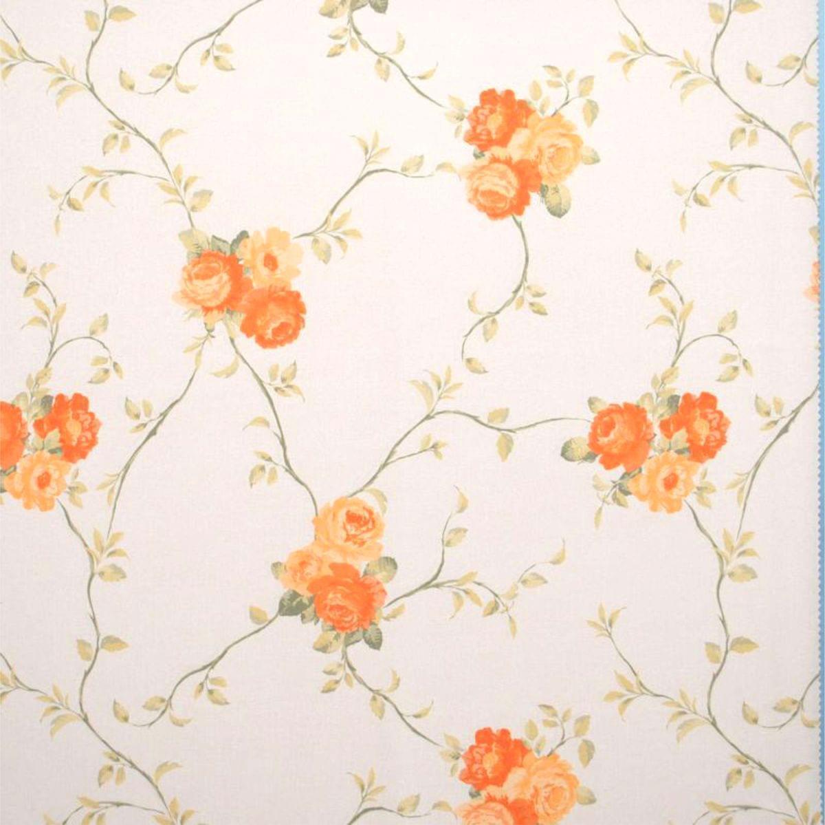 Forbyt, Dekorační látka, OXY Růže 150 cm, oranžozelená