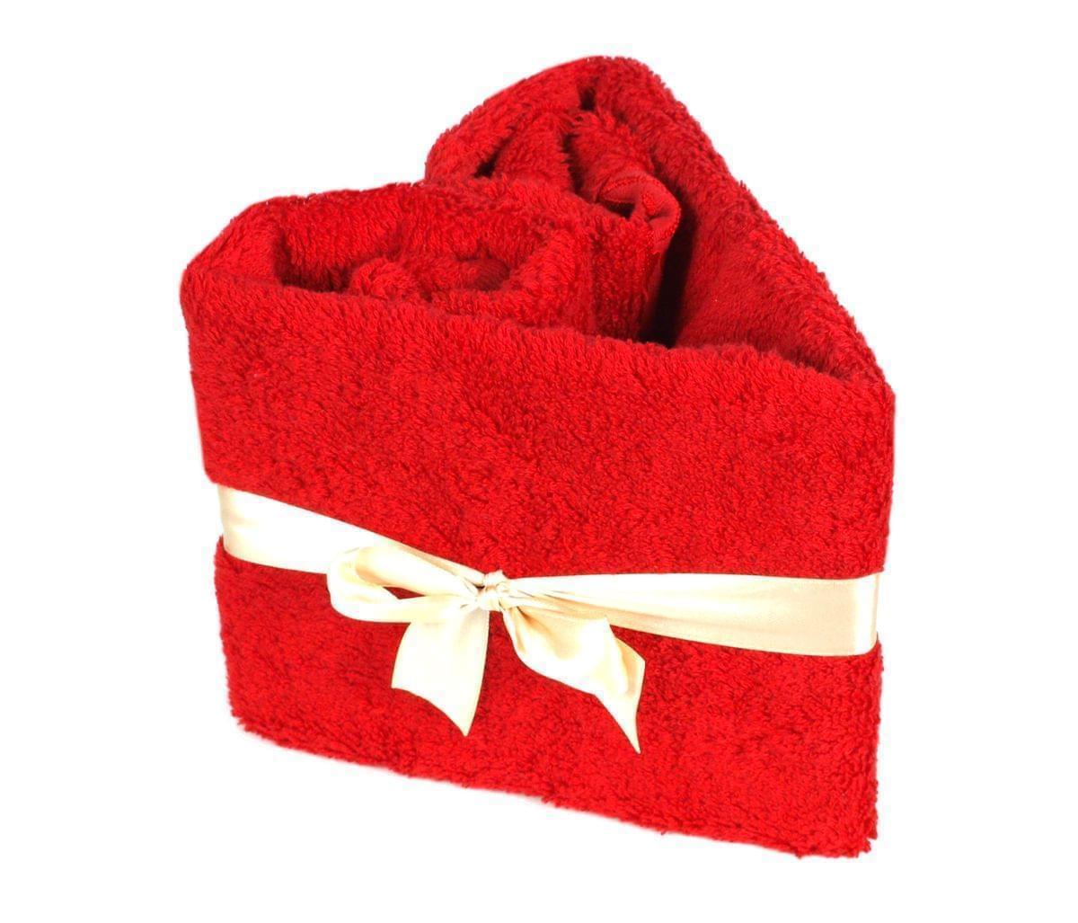 Forbyt, Srdce ručníkové, Simple Bambus Line, červené