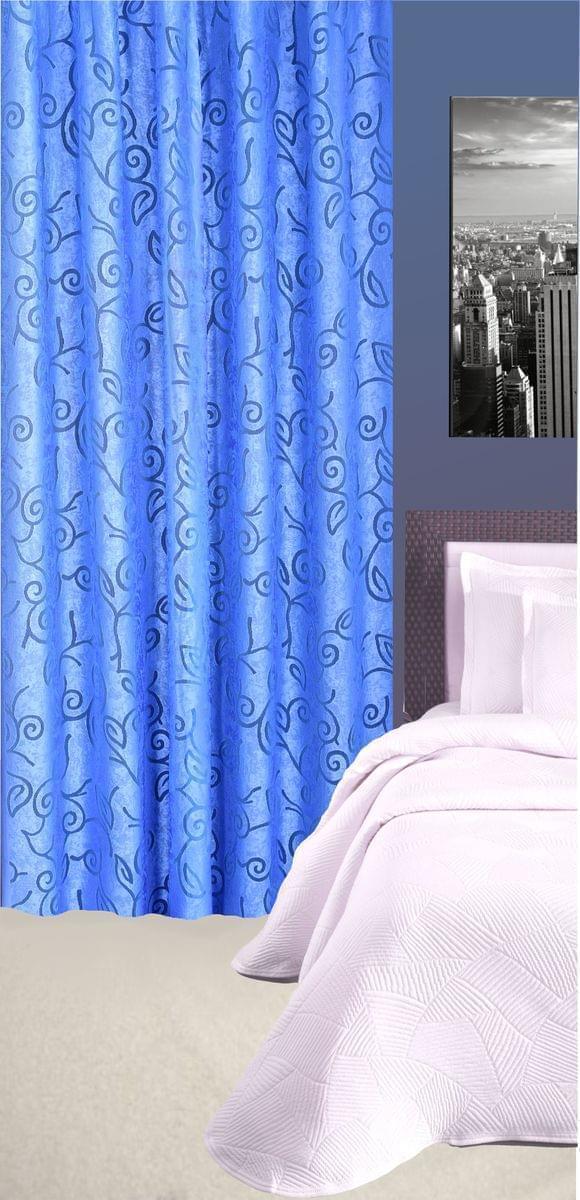 Forbyt, Závěs dekorační nebo látka, Tonia, modrá, 145 cm